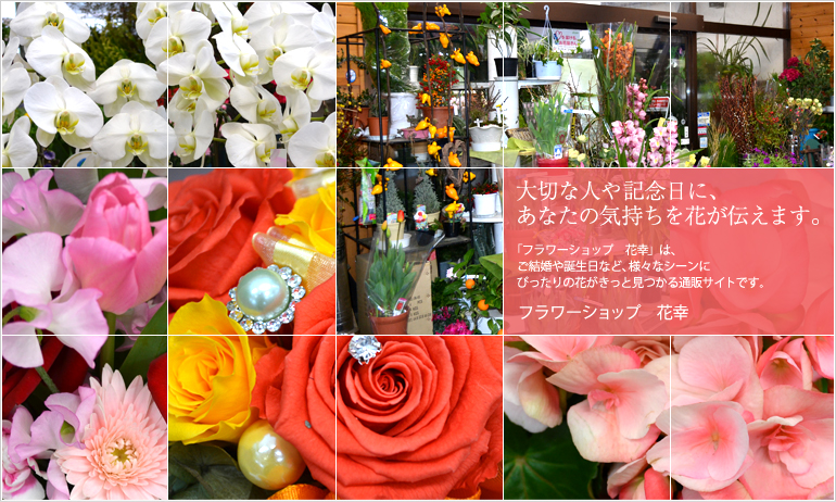 大切な人や記念日に、あなたの気持ちを花が伝えます。 フラワーショップ 花幸